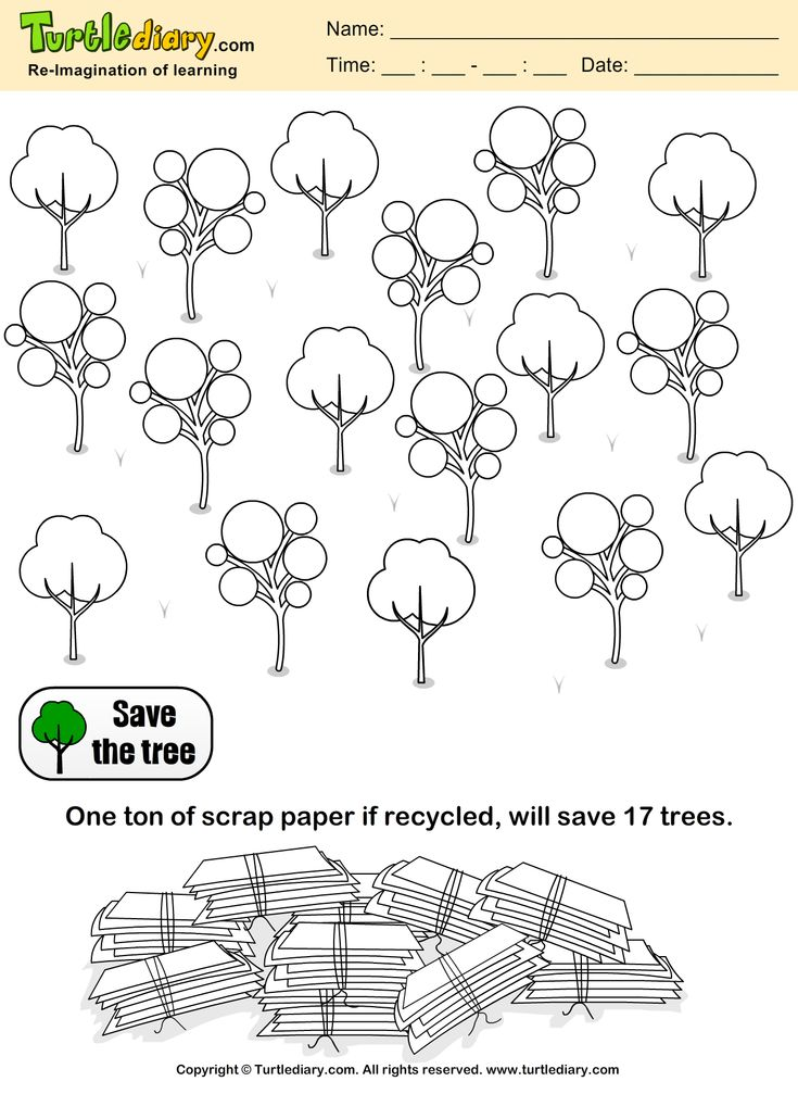 Save Trees Earth Day Coloring Page Kids Crafts Coloring