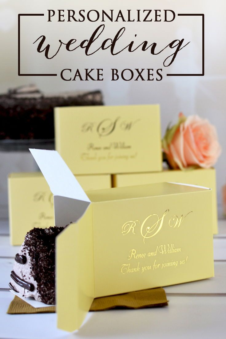 5 X 3 Custom Printed Wedding Cake Slice Favor Boxes Wedding Cake Boxes Cake Slice Favor Box Personalized Wedding Cake Boxes