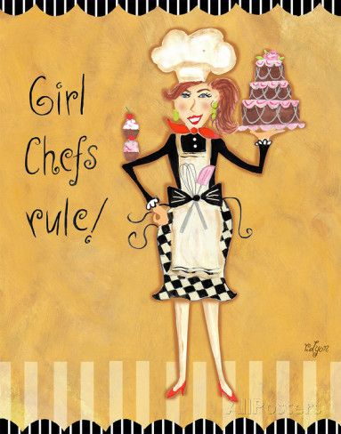 Girl Chefs Rule Posters by Rebecca Lyon at AllPosters.com