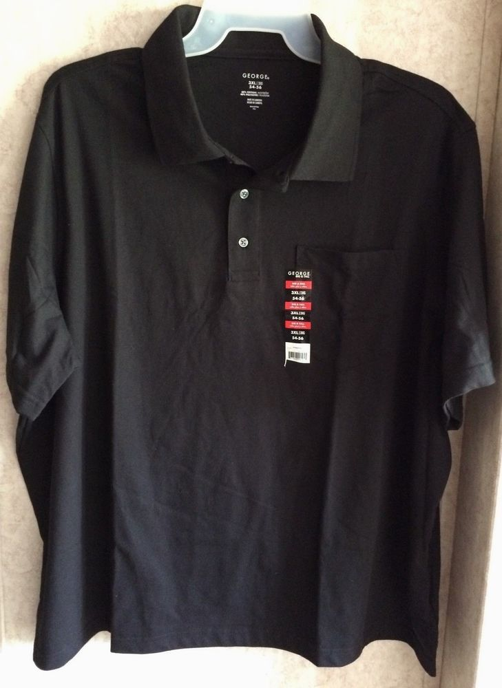 George Men's Shirt Pull Over Polo New Size 3XL 54 56 Short Sleeve ...