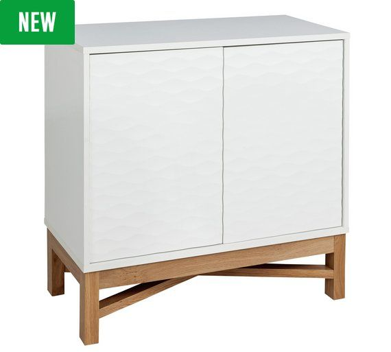 Buy Hygena Zander Textured Sideboard - White & Oak Effect at Argos.co.uk, visit Argos.co.uk to shop online for Sideboards and dressers, Living room furniture, Home and garden