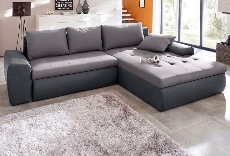 SIT & MORE Hoekbank inclusief slaapfunctie, nu voor de helft van de prijs! #koopje #aanbieding #sale #korting #uitverkoop #huis #wonen #inrichting #interieur #design #meubels #bank #hoekbank #lounge #woonkamer #home #livingroom #couch