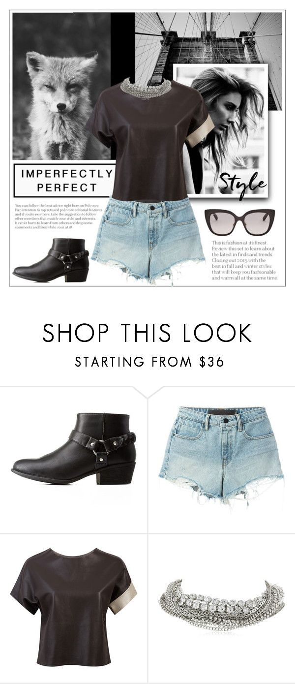 """""""Untitled #488"""" by heloisa90 ❤ liked on Polyvore featuring Bamboo, Alexander Wang, Claire Andrew, ABS by Allen Schwartz and Jimmy Choo"""