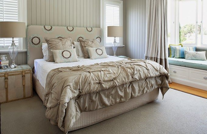 bedroom | Lily G    Built in bay window sitting area with storage-Love it!