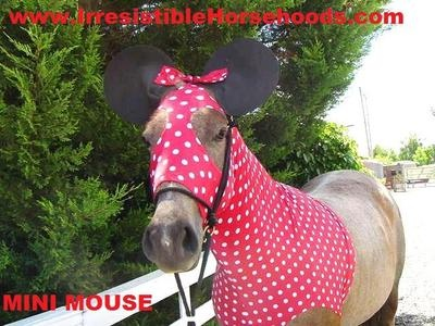 Minnie Mouse Horse Costume Ears...too cute Have to get this for the horse I lease! her name is minnie!