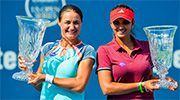 August 27, 2016:   Doubles #1 'Sania Mirza and Monica Niculescu capped off their newly rekindled doubles partnership with their first title together at the Connecticut Open, edging past Kateryna Bondarenko and Chuang Chia-Jung.' via WTA.