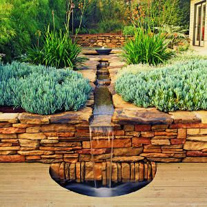 Mission style fountainWater Fountain, Stones Wall, Gardens Fountain, Gardens Water, Gardens Design, Wall Fountain Backyards, Beautiful Water Features, Mission Styl Stream, Mission Style