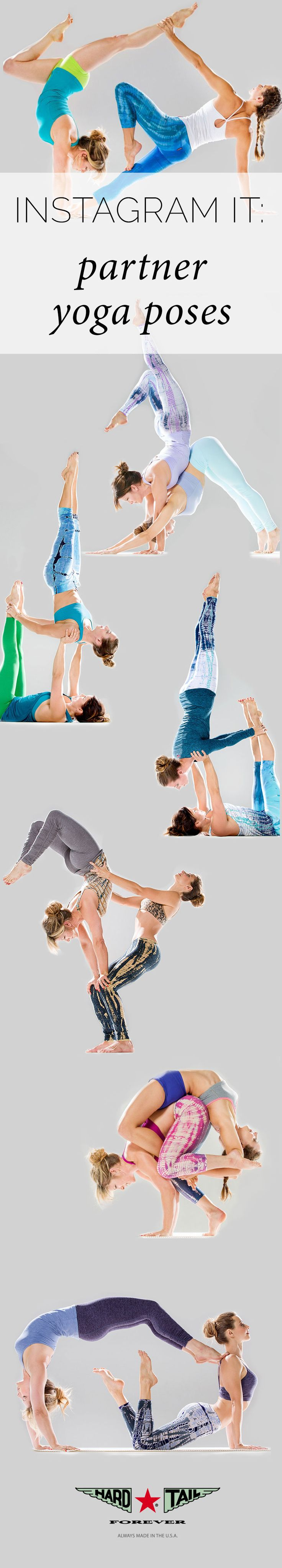 Grab a partner and challenge yourself to some of these unique partner yoga poses. Once you've mastered it, share it on Instagram!