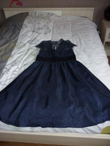 Robe de soirée et/ou cérémonie Alain Manoukian / Bleu, bleu marine, bleu turquoise / 44 (XL/XXL, T5) FR / Polyester / Printemps - Été
