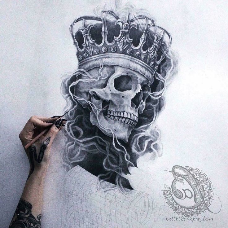 нσυѕтσиqυєєивяι♛♚ Sleeve tattoos, Skull tattoo design