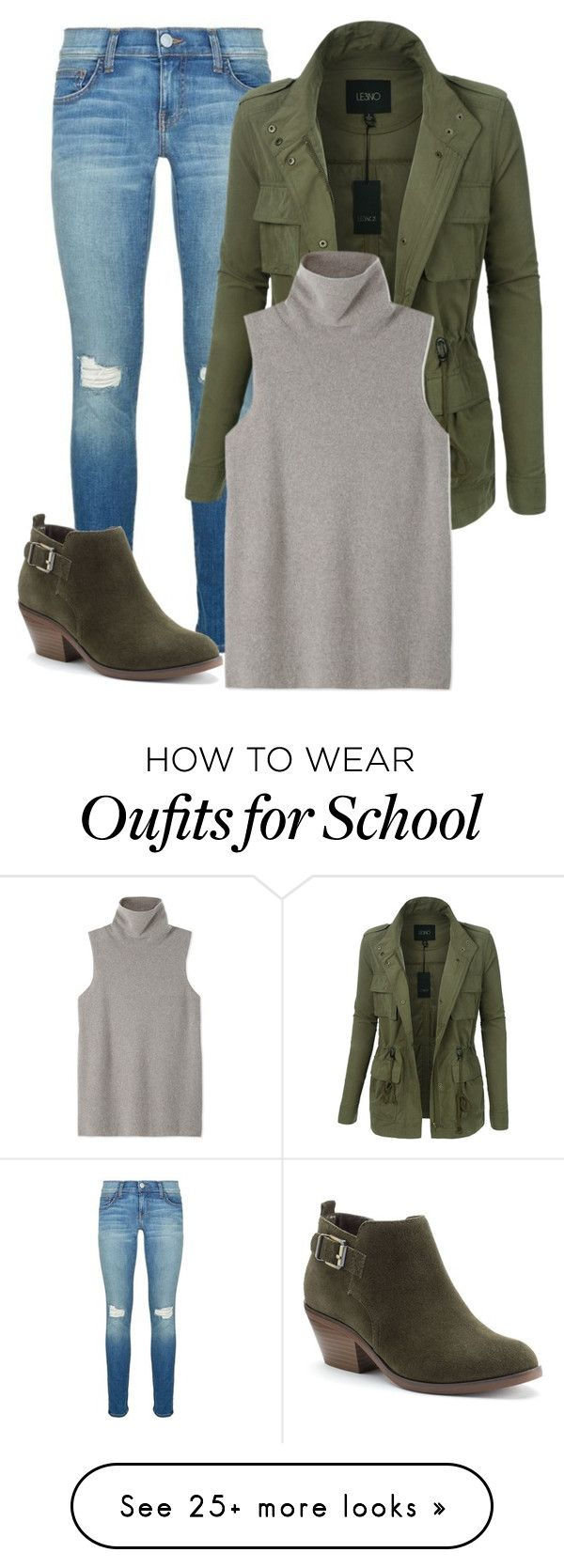 """""""School Outfit"""" by dogsongkbb on Polyvore featuring Rebecca Minkoff, LE3NO, The Row and SONOMA Goods for Life"""