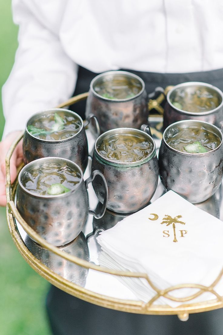 Wedding reception inspiration | Moscow Mules by PPHG | Spring wedding at Lowndes Grove Plantation in Charleston, South Carolina