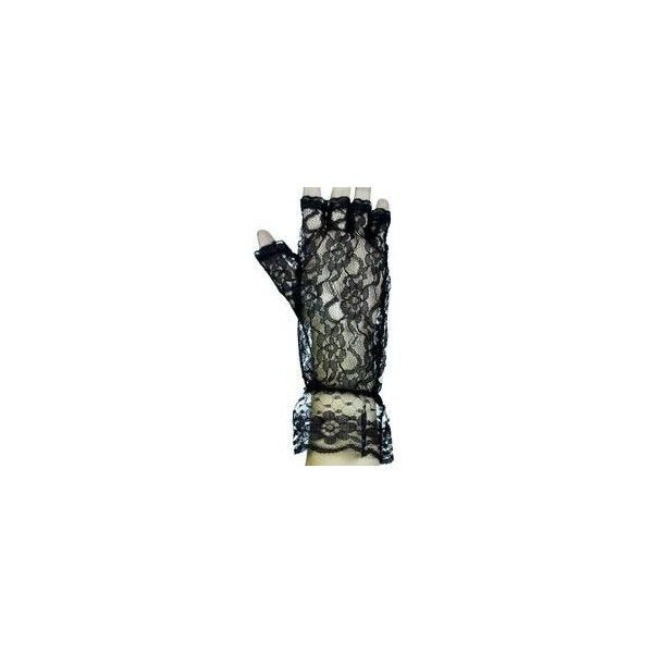 Ingetogen Gothic Lolita korset geregen op Arm Warmers Zwarte lint Goth... ❤ liked on Polyvore featuring accessories, kuro, gothic arm warmers and goth arm warmers