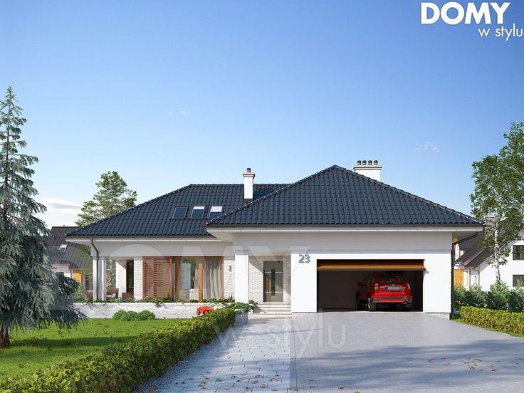 Projekt domu Aksamit 2 - wizualizacja frontowa
