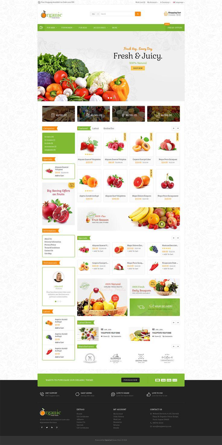 #Modern #Organic #Grocery #Fruits #Foods #Mega #Health #Medicine #eCommerce #Opencart Responsive #multipurpose Theme