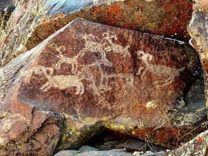 Little Petroglyph Canyon, Naval Air Weapons Station , China Lake Near Ridgecrest, Kern County