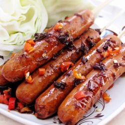 ... if you find please share! Hot Dogs with Spicy and Sweet Ginger Glaze