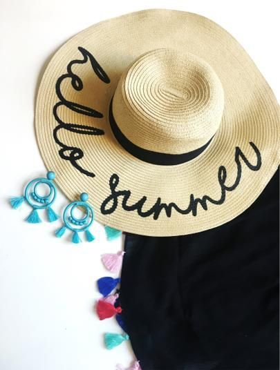 The PERFECT Summer Beach Hat + Turquoise Earrings + Tassel Beach Cover Up @cobaltchronicle