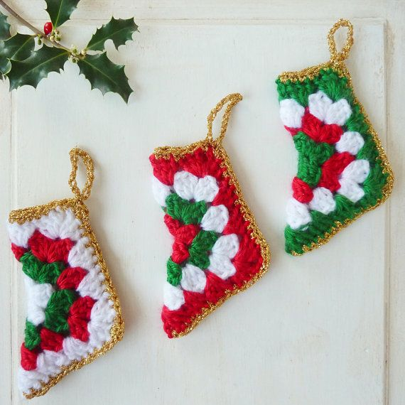 Crochet pattern christmas stocking holiday pdf ebook crochet easy c