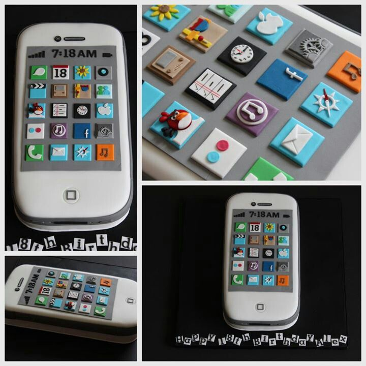 how to make a cell phone cake