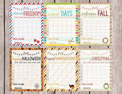 Free Bunco Score Sheet