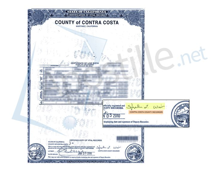 certificate birth county bernardino state california diego contra costa sample certificates example apostille santa barbara cruz