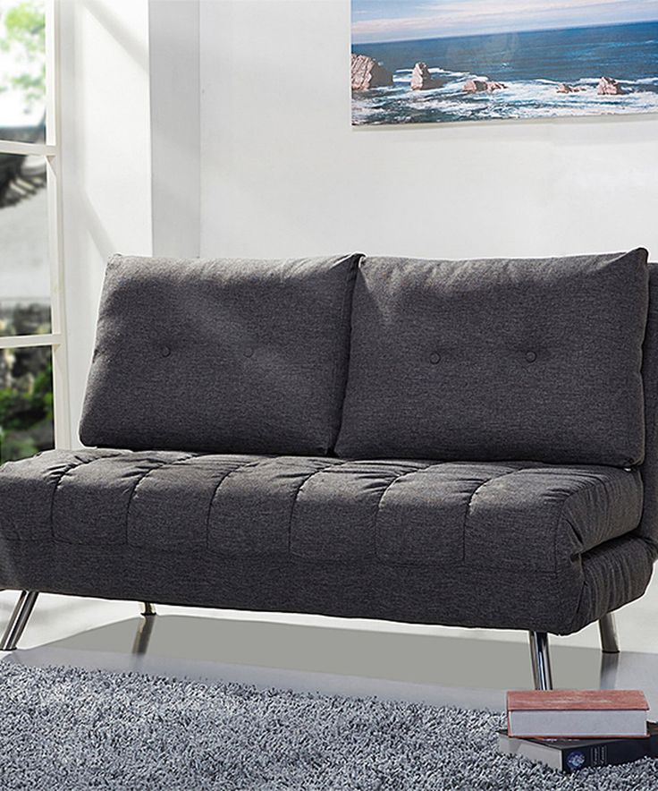 Take a look at this Gray Tampa Convertible Love Seat Sleeper today!