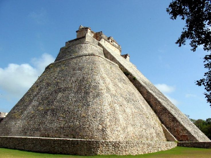 Pyramid of the Magician.jpg Uxmal, Yucatan, Mexico. I've climbed that thing. It looks even steeper from the top. And no elevator.