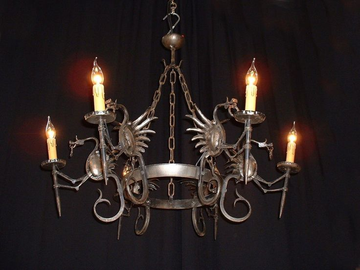 dragon chandelier Gothic Revival Chandeliers
