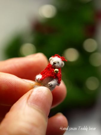hand sewn teddy bear