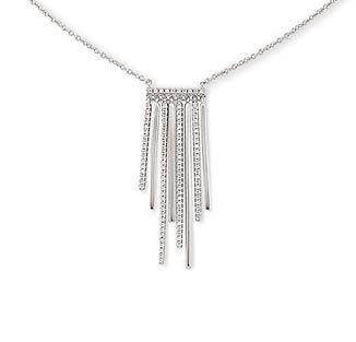 Stříbrný náhrdelník se zirkony*