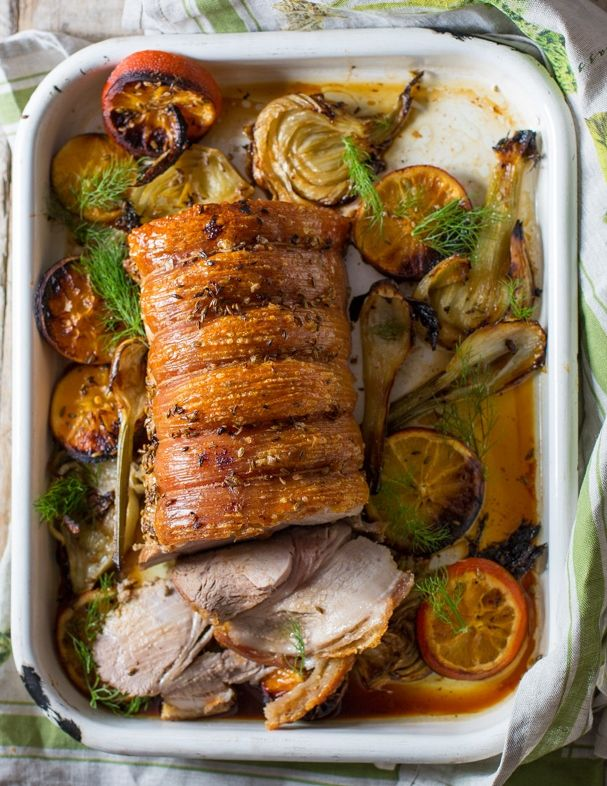 Sliced #pork #loin on a bed of #fennel & #citrus. #recipes #food #foodstyling #foodphotography