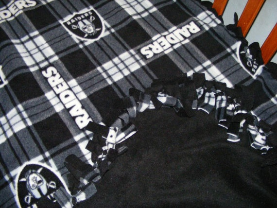 Oakland Raiders Fleece Baby Blanket Crib size by LovableStyle, $31.97