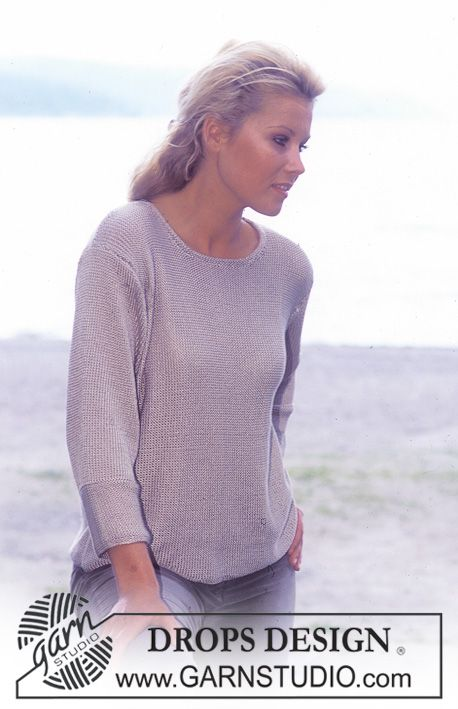 Free pattern: DROPS Pullover in Cotton Viscose