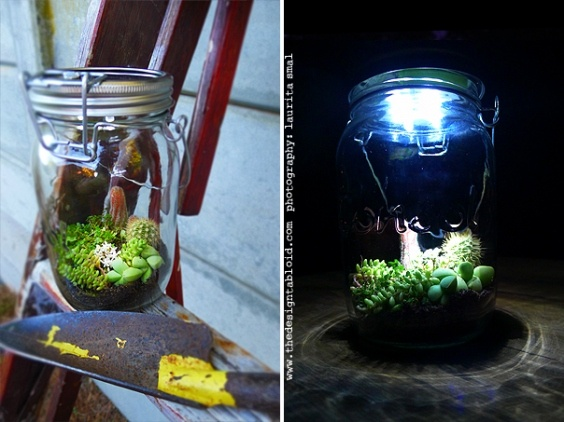 Create a little WOW factor in your solar consol jar for your green event. www.eventaffairs.co.za
