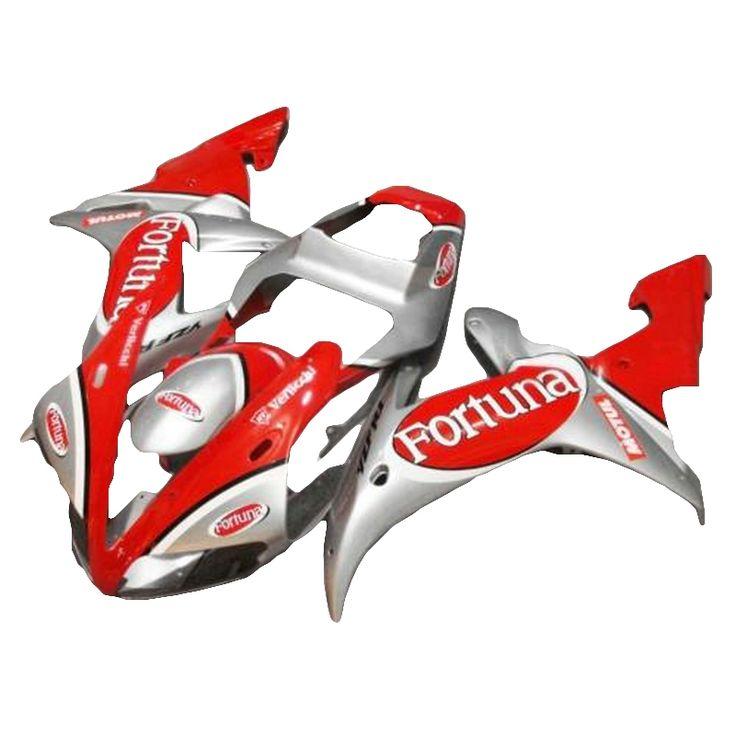 (395.60$)  Know more  - grey red Motorcycle fairing kit  for YAMAHA R1 fairing kit 02 03 R 2003 YZFR1 2002 fairings free custom xl34