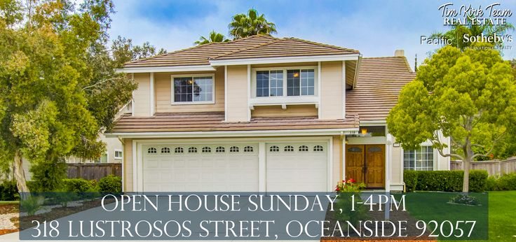 Join the Tim Kirk Team today for an open house showing in Oceanside at this darling 2-story home. It is minutes to Camp Pendleton and priced to sell quick at $610,000! Come by and take a look today between 1-4PM.   Can't make it today? Give the Tim Kirk Team a call at 760.704.9252 to schedule a showing!
