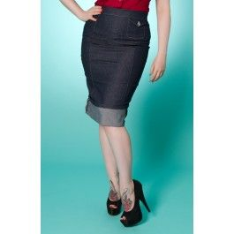 Jupe Crayon Pin-Up Rockabilly Jeans Signature