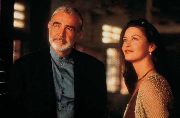 Sean Connery & Catherine Zeta Jones in the 1999 film Entrapment