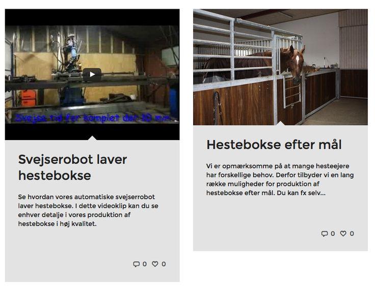 Hestebokse hos hestebokse.dk Alt om #hestebokse #staldinventar #stalddøre