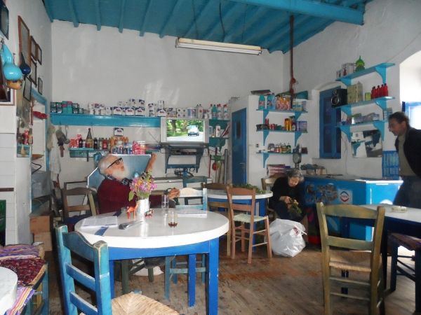 Traditional,mini market,coffee shop,taverna,during winter.....