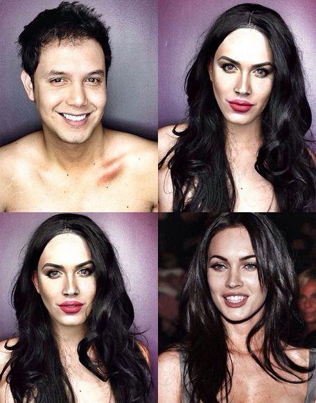 El filipino Paolo Ballesteros se transforma en #famosas solo con #maquillaje