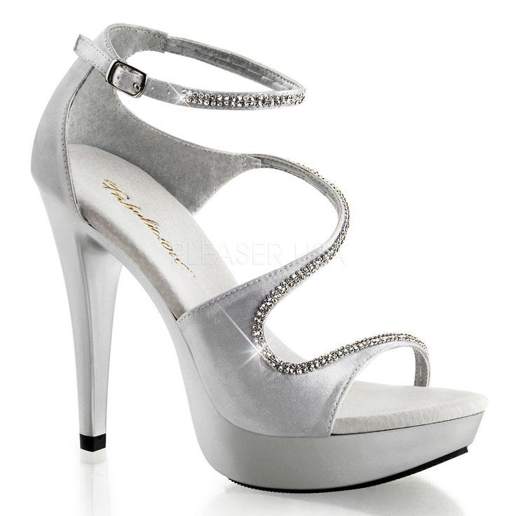Silver Super Sexy 5 Inch Open Peep-Toe Heels w/ 1 Inch Platform