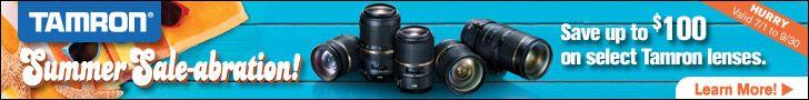 Tamron USA Summer Rebates - Camera Lens