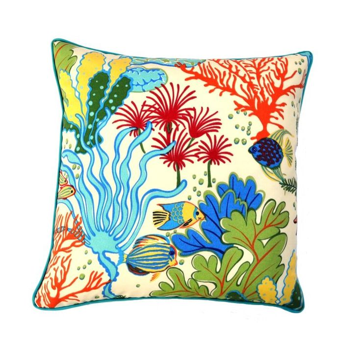 Atlantis - colourful Outdoor cushion or cover available on ETSY.com ( Julie Alves Designs ) or via the website - www.juliealvesdesigns.com.au