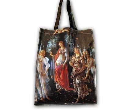 Primavera by Botticelli PVC plastic shopper tote bag. Approximately 38x31 cm. Uffizi Gallery – Florence. #firenzemuseistore #art #Botticelli #Primavera  #bag #shopper #Uffizigallery #Florence #accessories #fashion