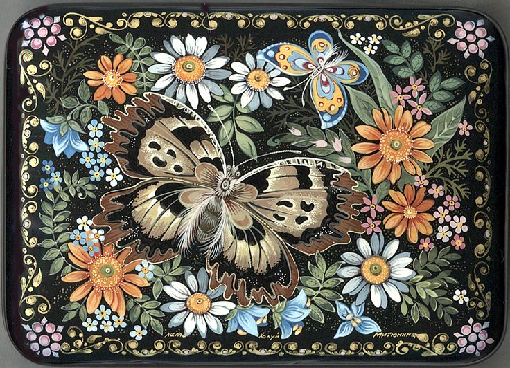 """""""Summer"""" Lacquer Art by Zina Mitunina (Kholui)"""