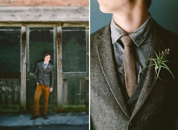 Groom Style: Tweed For A Fall Wedding