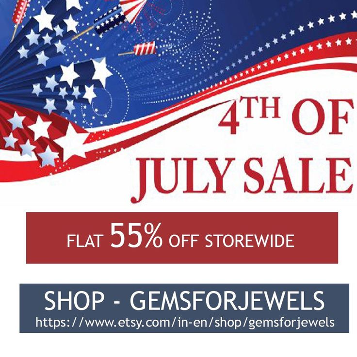 Gemsforjewels announces the sale bonanza - 4th July Hot Deals - Flat 55% off STOREWIDE!! Shop from our wide collection of precious & semiprecious gemstones, rough diamonds, rose cut diamonds & gemstones, cabochons, bezel connectors, wholesale & many more
