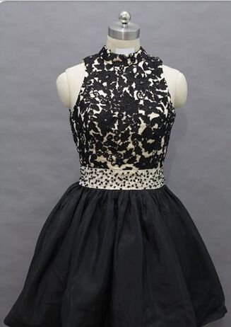 Homecoming Dress,Lace Homecoming Dress,Black Homecoming Dress,Fitted Homecoming Dress,Short Prom Dress,Homecoming Gowns,Cute Sweet 16 Dress For Teens